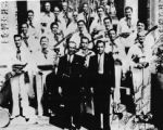 Portrait of Mexican American musicians from Tucson, circa 1936.