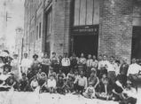 William Flores Sr. at Fred Ronstadt Company with other workers, circa 1910
