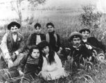 Family Gathering at Santa Cruz River for Cinco de Mayo, 1890