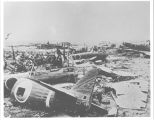 Destroyed Japanese aircraft in Philippine Islands