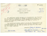 Waiver for Harold H. Williams, April 26, 1948