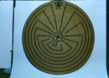 Tohono O'odham Woven Plaque with Maze Design