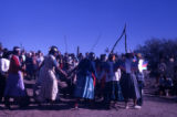 A Papago Round Dance, 'Bat,' at Ted DeGrazia's, Tucson, Arizona