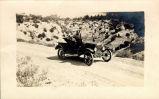 Fr. Augustine returning from Roosevelt Dam in auto
