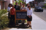 Staff outside the First Street Poetry Center
