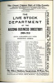 Arizona Business Directory 1909-10 (Part 7 of 9) - Live Stock and Wool Growers