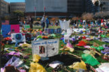 Photo of tributes at University Medical Center