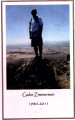 """Celebrating the life of Gabe Zimmerman 1980-2011"" memorial program booklet"