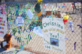 Photo of tribute materials at Mesa Verde Elementary School