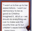 Extract of President Obama's speech card