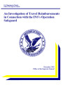 An investigation of travel reimbursements in connection with the INS's Operation Safeguard