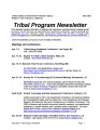 Tribal program newsletter