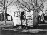 Photograph of a trailer used for the Beautification Headquarters by the Arizona Highway Department