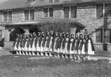 Photograph of nursing students at Sage Memorial Hospital on the Presbyterian Mission in Ganado...