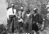 Photograph of missionaries, including Clarence Salsbury (left) at the Presbyterian Mission in...