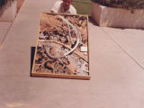 Photograph/color image of an architectural model made by the Arizona Highway Department, depicting...