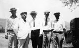 Photograph of B.J. Hildreth, Scott White, Silas Hally and Glen Sorenson and Governor George  at...