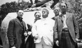 Photograph of Arizona Governor George W.P. , Mike Moriarty, H.A. Lawrence, J.C. McGuire, and -?-...