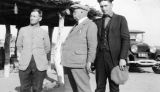 Photograph of Arizona Governor George W.P. Hunt, Ralph Whitman and John Tracey in Pinal County...