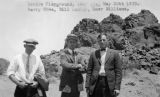 Photograph of Harry Shea, Bill Lawler and Omer Williams at the Devil's Playground, a rock...