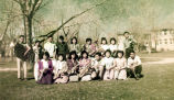 Photograph/color image of Navajo students at the Ganado Presbyterian Mission in Ganado (Ariz.)