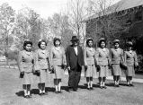 Photograph of former nursing students serving in the military at the Ganado Presbyterian Mission...