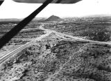 Photograph/aerial view of the junction of Washington Street and Van Buren Street east in Phoenix...
