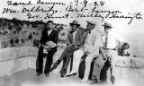 Photograph of Arizona Governor George  and a group of men at  Grand Canyon (Ariz.) .