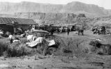 Photograph of an congressional investigation at the Glen Canyon site, near Lee's Ferry (Ariz.)