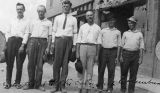 Photograph of a group of workers deported during the Bisbee Deportation, a strike by the...