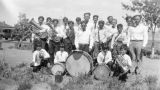 Photograph of a musical group at the Ganado Presbyterian Mission in Ganado (Ariz.)