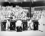 Photograph of the ship's band aboard the U.S.S. Arizona in Pearl Harbor (Hawaii)