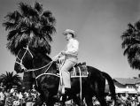 Photograph of a man riding a horse during a parade at Luke Air Force Base in Glendale (Ariz.)