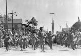 Photograph of the 25th United States Infantry Regimental Band on parade in Nogales (Ariz.)