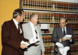 Photograph/color image of three attorneys at the Arizona Supreme Court in Phoenix (Ariz.)