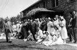 Photograph of nurses and doctors at the hospital at the Ganado Navajo Presbyterian Mission in...