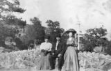 Photograph of Virginia Clew, George W.P.  and -?- McCanne in Manitou Springs (Colo.)