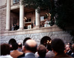 Photograph of the inauguration of Governor Bruce Babbit at the Arizona State Capitol in Phoenix...