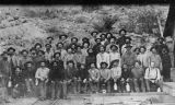 Photograph of mine workers at the Old Dominion Mine in Globe (Ariz.)