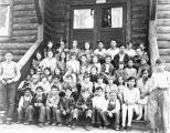 Photograph of a group of students at the Grand Canyon (Ariz.) school.