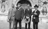Photograph of Arizona Governor George , Ben Harris, Harry Enos and William Lawler at San Xavier...