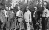 Photograph of Arizona Governor George  and a group of men at Hannagan Meadow (Ariz.)