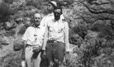 Photograph of Arizona Governor George W.P. , Fred Ferguson, and Lockwood Meade at Fish Creek...
