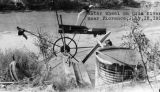 Photograph of a water wheel on the Gila River in Florence (Ariz.)