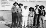 Photograph of Arizona Governor George  anda  group of men at Helldorado Days in Tombstone (Ariz.)