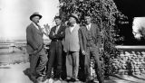 Photograph of Governor George  and three men in Florence (Ariz.)