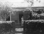 Photograph of the home and mother of James McClintock in Tempe (Ariz.)
