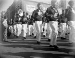 Photograph of a marching band in an Arizona parade.