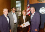 Photograph/color image of Arizona Governor Jack Williams (right), with Duke Cameron, Frank Mayne...