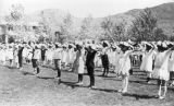 Photograph of children exercising at a Bisbee (Ariz.) school